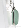 Perfect Thick Seafoam Green Genuine Sea Glass set in our Original Wire Bezel© pendant setting in Sterling Silver