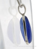 A side view of this piece shows you the thickness of the sea glass and quality of the silver work.