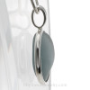 A side view shows you th e thickness of the sea glass and the quality of the bezel work.