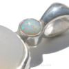 SUPER RARE Opalescent English Sea glass set in our Deluxe Wire Bezel© setting and bumped up a level with a Genuine 6MM Opal.