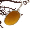 Sorry this amber sea glass pendant has been sold