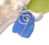 A nice piece of vivid cobalt sea glass in a sterling sea inspired setting!  Top quality Certified Genuine Sea Glass. This is a very frosty old piece of blue sea glass just the way it was found on the beach!