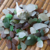 Many jewelry quality pieces in this sea glass grab bag. Sea shell IS included!