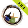 Sorry this sea glass locket with sharks teeth has SOLD!