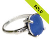 Sorry this blue sea glass ring has been sold!
