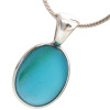 A great VIVID aqua sea glass with slash of green. This is the EXACT pendant you will receive!