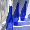 Blue bottles are the source of much blue sea glass. Though there are newer cobalt blue bottles, the intensity of the color is not the same as the older pre 1960's cobalt glass like Noxzema, Phillips, Vick's and others.