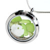 Beautiful vivid lime green sea glass combined with genuine peridot beads (the August Birthstone) and real beach sand and a baby sandollar in this stainless steel locket. This is the EXACT locket you will receive!