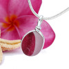 Super Ultra Rare HOT PINK mixed sea glass from England set in our Original Wire Bezel© setting in sterling. A great pendant for any necklace.