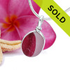 The ultra rare pink sea glass pendant has been sold, sorry!