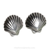 Solid Sterling Shell Post Earring