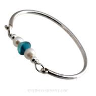 Banglalicious - Summer Sea Glass Bangle Bracelets