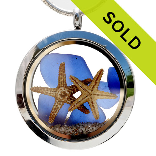 Sorry this blue sea glass locket with starfish has been sold!