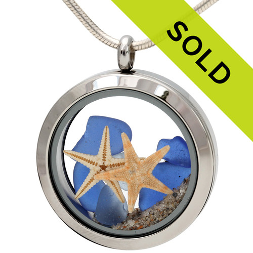 Sorry this blue sea glass locket has been sold!