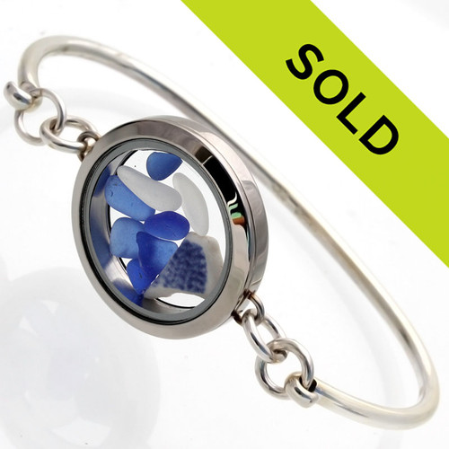 Sorry this one of a kind sea glass locket bracelet has been sold!