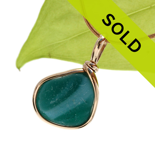 Sorry this true end of day sea glass pendant has been sold!