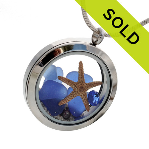 So sorry this blue sea glass locket has been sold!