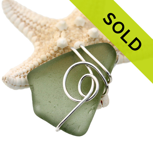 Sorry this olive green sea glass necklace pendant has already sold!