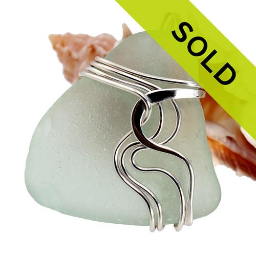 Sorry this beautiful seafoam green sea glass pendant has ALREADY sold!