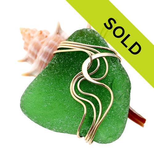Sorry this green sea glass pendant has been sold!