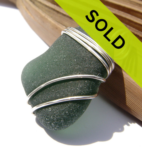 This sea glass pendant has been sold.