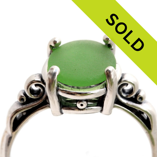 Sorry, this green sea glass ring has been sold!