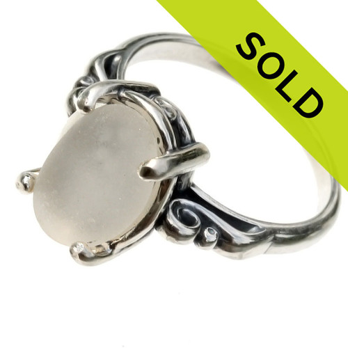 Sorry this white sea glass ring has already sold!