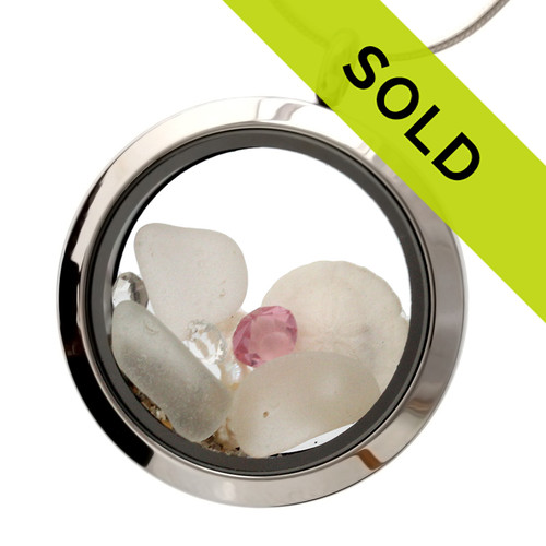 Sorry this genuine sea glass locket has been sold!