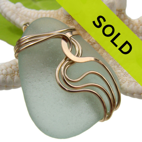 This sea glass pendant has been SOLD!