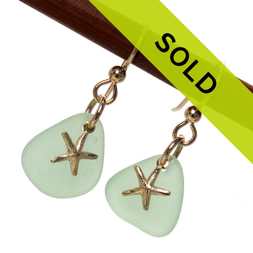 Sorry these seafoam sea glass earrings have sold!