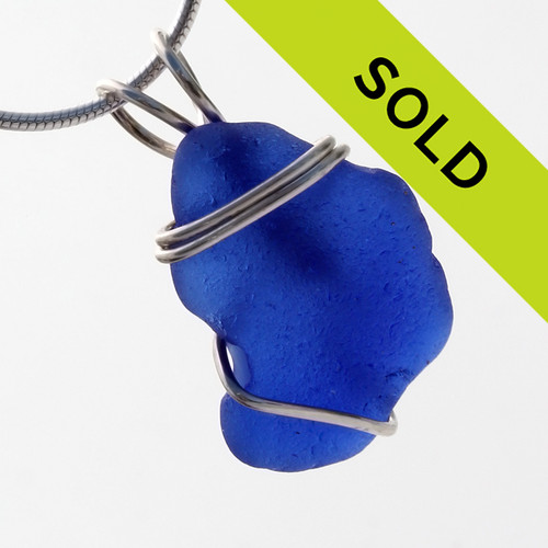 Sorry this blue sea glass pendant has sold!