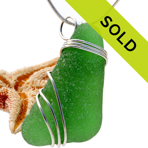 This green sea glass pendant has been SOLD!