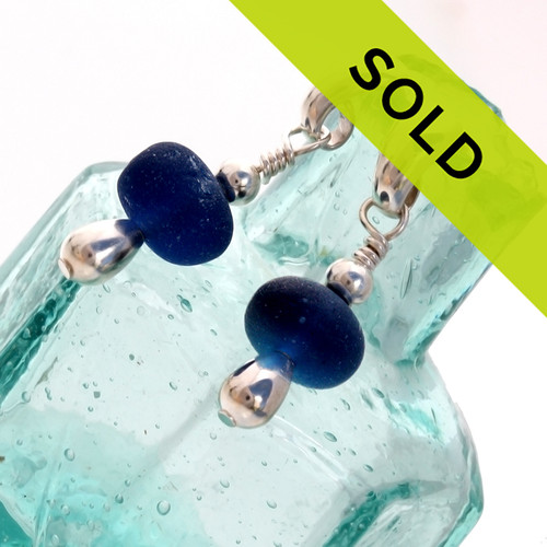 Sorry these blue sea glass earrings on sterling posts have been sold!