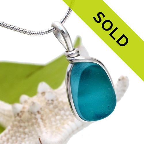 Sorry this mixed aqua sea glass pendant has SOLD!