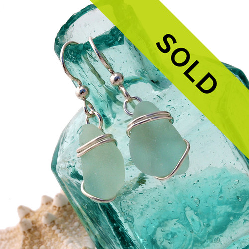 This pair of sea glass earrings has SOLD!