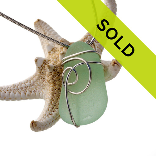 Sorry this seafoam green sea glass necklace pendant has sold!