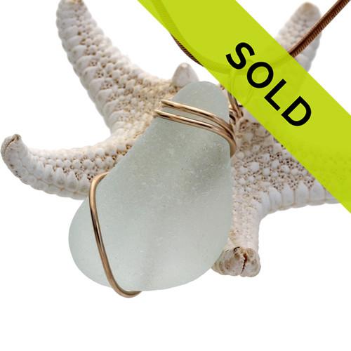 This seafoam sea glass pendant has sold!
