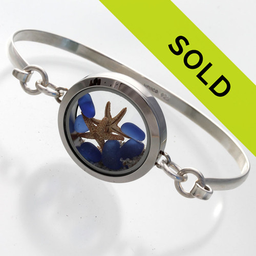 Sorry this sea glass locket bracelet has been SOLD!