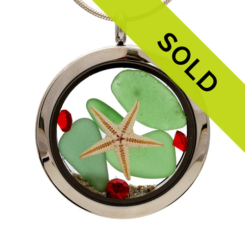 Sorry this sea glass locket has sold!