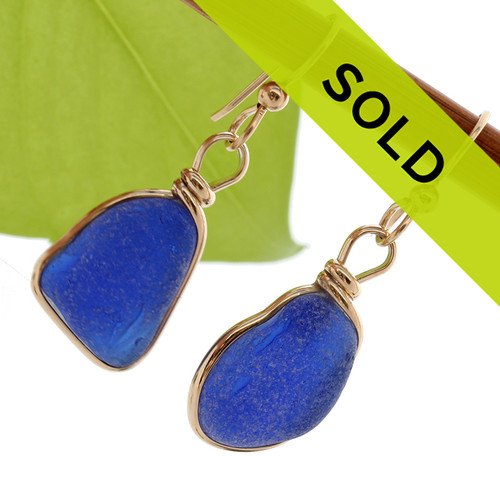 Sorry these sea glass earrings have been sold