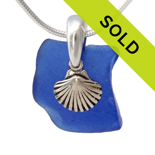 Sorry this blue sea glass necklace has been sold!