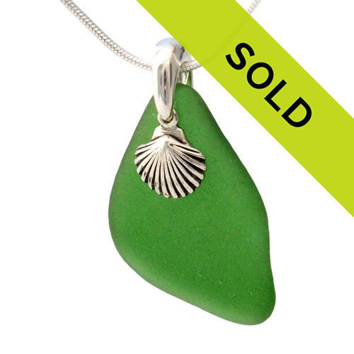 This sea glass necklace has been sold!