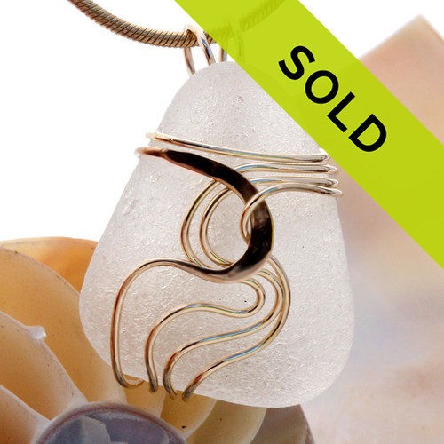 Sorry this sea glass necklace pendant has sold!