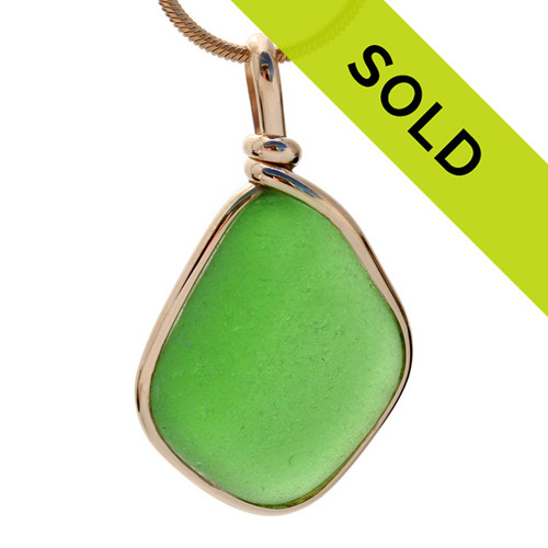 Sorry this green sea glass necklace in gold bezel has sold!