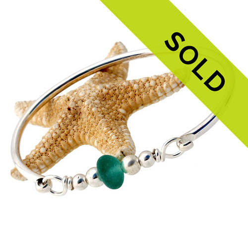 Sorry this sea glass bangle bracelet has been sold