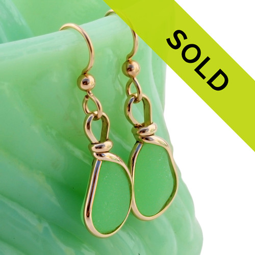 Sorry these rare sea glass earrings are no longer for sale.
