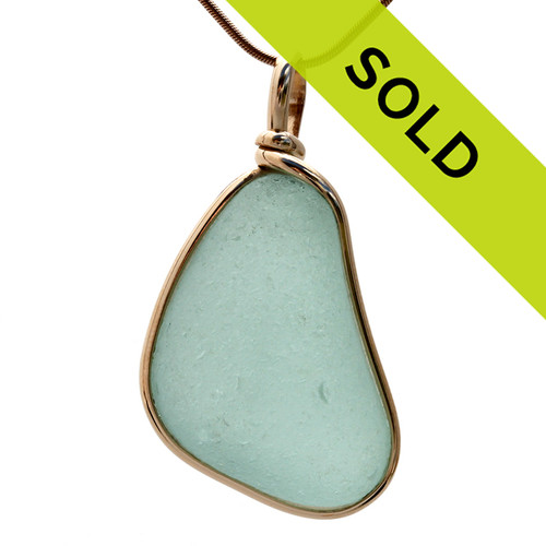 A beautiful sea glass pendant for any time of year! Sorry this one has SOLD!