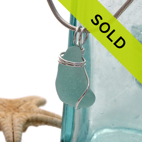 Sorry this aqua sea glass pendant has sold!