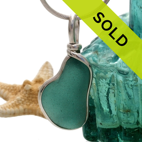 Sorry this deep aqua sea glass pendant has SOLD!