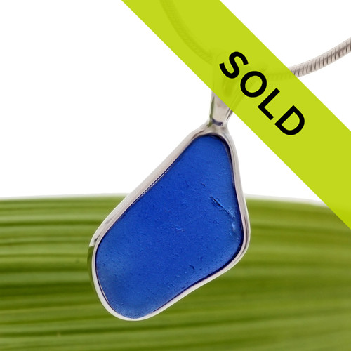 Genuine Blue Sea Glass. We only use the finest sea glass that is UNALTERED from the way it was found on the beach.